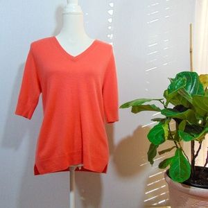 Ann Taylor Coral color cashmere sweater